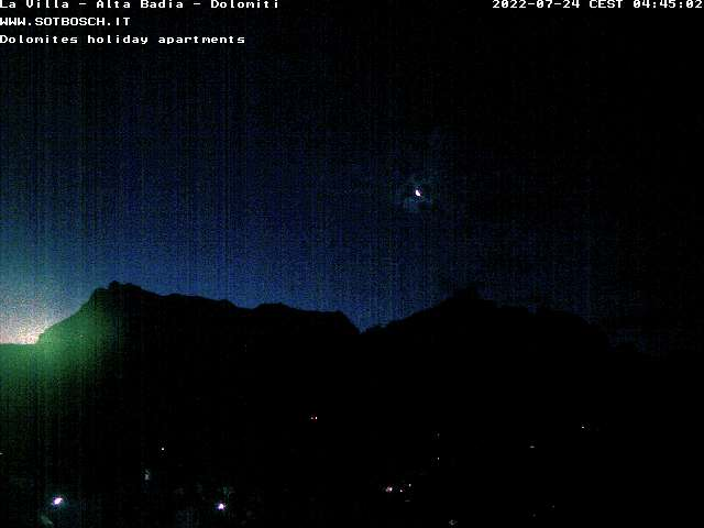 Webcam con vista su La Villa in Alta Badia